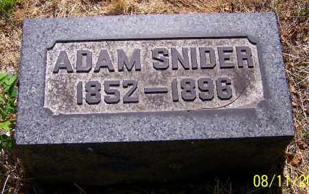 SNIDER, ADAM - Stark County, Ohio | ADAM SNIDER - Ohio Gravestone Photos