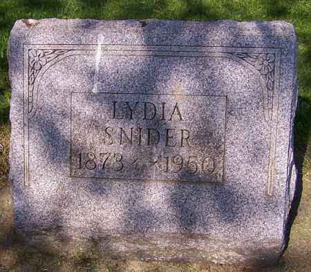 SNIDER, LYDIA - Stark County, Ohio | LYDIA SNIDER - Ohio Gravestone Photos