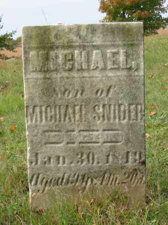 SNIDER, MICHAEL - Stark County, Ohio | MICHAEL SNIDER - Ohio Gravestone Photos