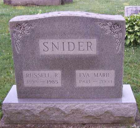 SNIDER, EVA MARIE - Stark County, Ohio | EVA MARIE SNIDER - Ohio Gravestone Photos