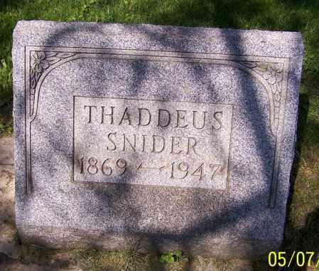 SNIDER, THADDEUS - Stark County, Ohio | THADDEUS SNIDER - Ohio Gravestone Photos
