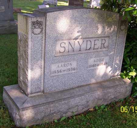 SNYDER, AARON - Stark County, Ohio | AARON SNYDER - Ohio Gravestone Photos