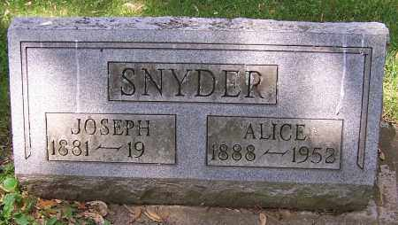 SNYDER, ALICE - Stark County, Ohio | ALICE SNYDER - Ohio Gravestone Photos