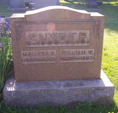 SNYDER, MALINDA B. - Stark County, Ohio | MALINDA B. SNYDER - Ohio Gravestone Photos