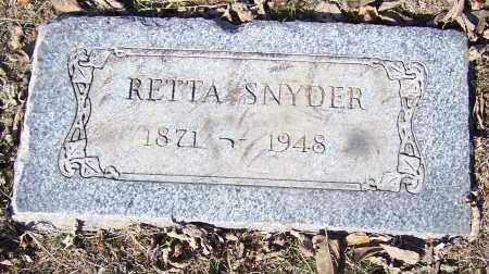 SNYDER, RETTA - Stark County, Ohio | RETTA SNYDER - Ohio Gravestone Photos
