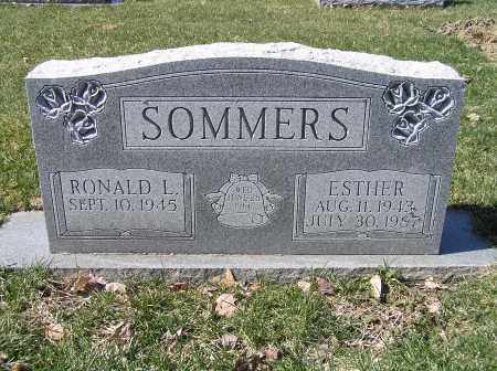 GINGERICH SOMMERS, ESTHER - Stark County, Ohio | ESTHER GINGERICH SOMMERS - Ohio Gravestone Photos
