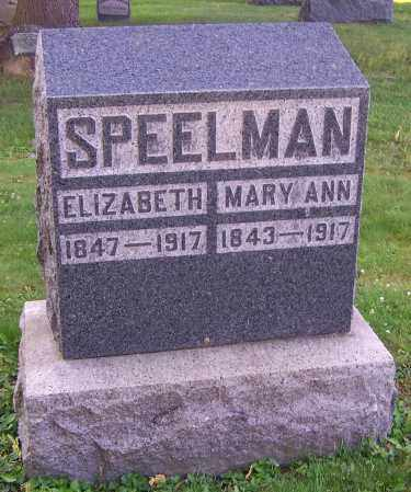 SPEELMAN, MARY ANN - Stark County, Ohio | MARY ANN SPEELMAN - Ohio Gravestone Photos