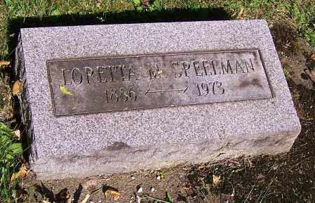 SPEELMAN, LORETTA M. - Stark County, Ohio | LORETTA M. SPEELMAN - Ohio Gravestone Photos