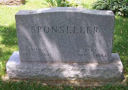 SPONSELLER, JOHN E. - Stark County, Ohio | JOHN E. SPONSELLER - Ohio Gravestone Photos