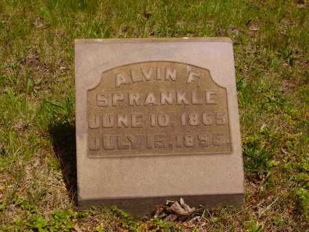 SPRANKLE, ALVIN F. - Stark County, Ohio | ALVIN F. SPRANKLE - Ohio Gravestone Photos