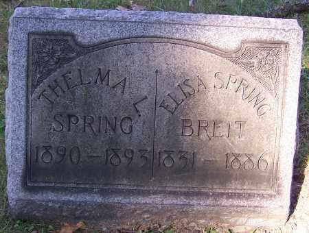BREIT, ELISA SPRING - Stark County, Ohio | ELISA SPRING BREIT - Ohio Gravestone Photos