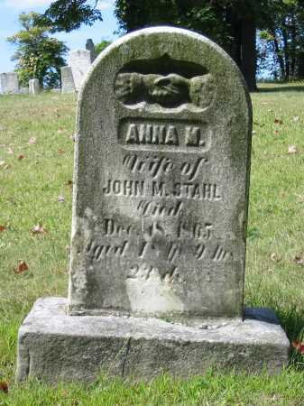 BARNHART STAHL, ANNA M - Stark County, Ohio | ANNA M BARNHART STAHL - Ohio Gravestone Photos