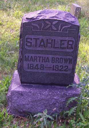 STAHLER, MARTHA BROWN - Stark County, Ohio | MARTHA BROWN STAHLER - Ohio Gravestone Photos