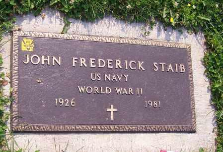 STAIB, JOHN FREDERICK  (MIL) - Stark County, Ohio | JOHN FREDERICK  (MIL) STAIB - Ohio Gravestone Photos
