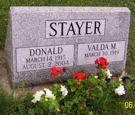 STAYER, DONALD - Stark County, Ohio | DONALD STAYER - Ohio Gravestone Photos