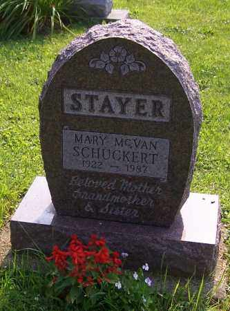 SCHUCKERT STAYER, MARY MCVAN - Stark County, Ohio | MARY MCVAN SCHUCKERT STAYER - Ohio Gravestone Photos
