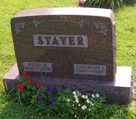 STAYER, GERTRUDE I. - Stark County, Ohio | GERTRUDE I. STAYER - Ohio Gravestone Photos