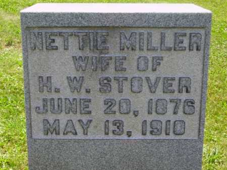 MILLER STOVER, NETTIE - Stark County, Ohio | NETTIE MILLER STOVER - Ohio Gravestone Photos