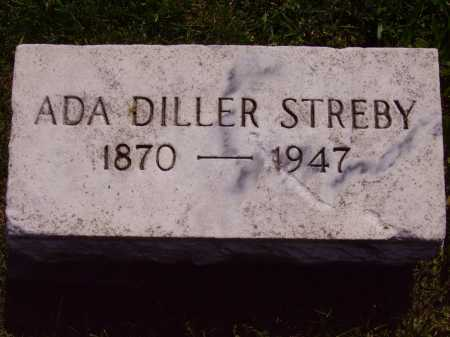 DILLER STREBY, ADA A. - Stark County, Ohio | ADA A. DILLER STREBY - Ohio Gravestone Photos