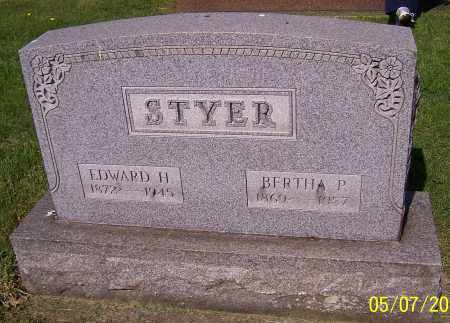 STYER, BERTHA P. - Stark County, Ohio | BERTHA P. STYER - Ohio Gravestone Photos