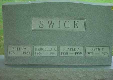 SWICK, FRED F - Stark County, Ohio | FRED F SWICK - Ohio Gravestone Photos