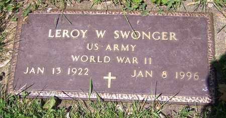 SWONGER, LEROY W.   (MIL) - Stark County, Ohio | LEROY W.   (MIL) SWONGER - Ohio Gravestone Photos