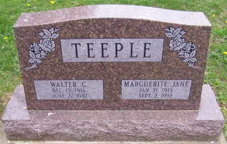 TEEPLE, MARGUERITE JANE - Stark County, Ohio | MARGUERITE JANE TEEPLE - Ohio Gravestone Photos