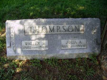 THOMPSON, WALTER R. - Stark County, Ohio | WALTER R. THOMPSON - Ohio Gravestone Photos