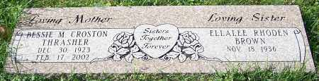 THRASHER, BESSIE M. CROSTON - Stark County, Ohio | BESSIE M. CROSTON THRASHER - Ohio Gravestone Photos