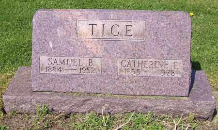 TICE, CATHERINE E. - Stark County, Ohio | CATHERINE E. TICE - Ohio Gravestone Photos