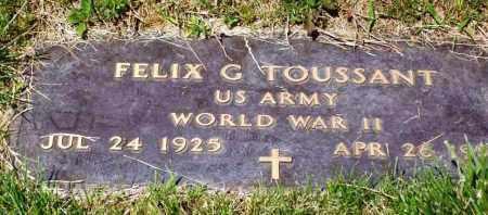 TOUSSANT, FELIX G. - Stark County, Ohio | FELIX G. TOUSSANT - Ohio Gravestone Photos