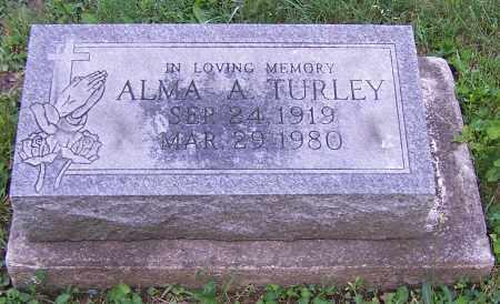TURLEY, ALMA A. - Stark County, Ohio | ALMA A. TURLEY - Ohio Gravestone Photos