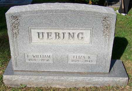UEBING, F.WILLIAM - Stark County, Ohio | F.WILLIAM UEBING - Ohio Gravestone Photos