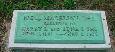 UHL, NELL MADELINE - Stark County, Ohio | NELL MADELINE UHL - Ohio Gravestone Photos