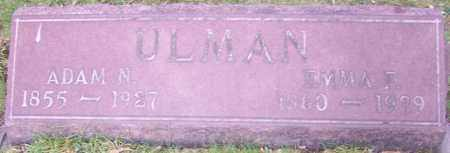 ULMAN, ADAM N. - Stark County, Ohio | ADAM N. ULMAN - Ohio Gravestone Photos