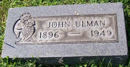 ULMAN, JOHN - Stark County, Ohio | JOHN ULMAN - Ohio Gravestone Photos