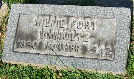UMHOLTZ, MILLIE FORT - Stark County, Ohio | MILLIE FORT UMHOLTZ - Ohio Gravestone Photos