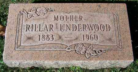 UNDERWOOD, RILLAR - Stark County, Ohio | RILLAR UNDERWOOD - Ohio Gravestone Photos