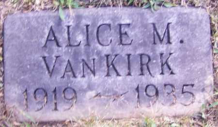 VAN KIRK, ALICE M. - Stark County, Ohio | ALICE M. VAN KIRK - Ohio Gravestone Photos
