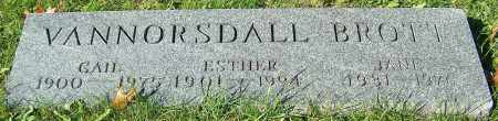 VANNORSDALL, ESTHER - Stark County, Ohio | ESTHER VANNORSDALL - Ohio Gravestone Photos