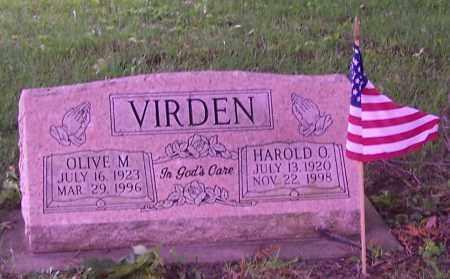 VIRDEN, HAROLD O. - Stark County, Ohio | HAROLD O. VIRDEN - Ohio Gravestone Photos