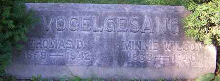 VOGELGESANG, MINNIE WILSON - Stark County, Ohio | MINNIE WILSON VOGELGESANG - Ohio Gravestone Photos