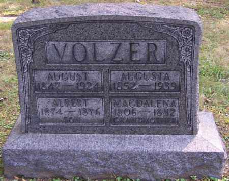 VOLZER, AUGUST - Stark County, Ohio | AUGUST VOLZER - Ohio Gravestone Photos