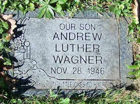 WAGNER, ANDREW LUTHER - Stark County, Ohio | ANDREW LUTHER WAGNER - Ohio Gravestone Photos