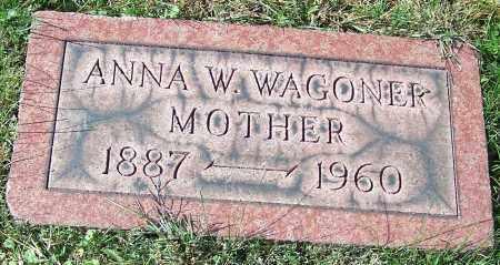 WAGONER, ANNA W. - Stark County, Ohio | ANNA W. WAGONER - Ohio Gravestone Photos