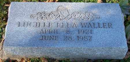 WALLER, LUCILLE ELLA - Stark County, Ohio | LUCILLE ELLA WALLER - Ohio Gravestone Photos