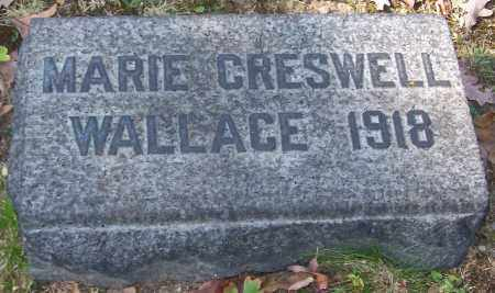 WALLACE, MARIE CRESWELL - Stark County, Ohio | MARIE CRESWELL WALLACE - Ohio Gravestone Photos