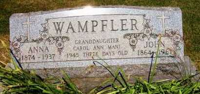 WACKERLY WAMPFLER, ANNA - Stark County, Ohio | ANNA WACKERLY WAMPFLER - Ohio Gravestone Photos