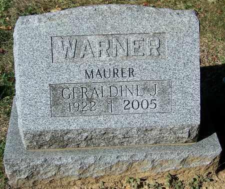 WARNER, GERALDINE J. - Stark County, Ohio | GERALDINE J. WARNER - Ohio Gravestone Photos