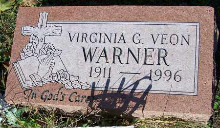 WARNER, VIRGINIA G.VEON - Stark County, Ohio | VIRGINIA G.VEON WARNER - Ohio Gravestone Photos